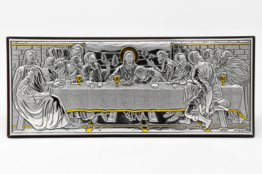 Silver Plated Last Supper Ornament.
