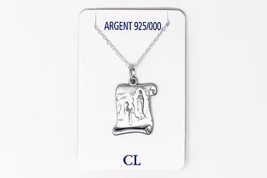 925 Lourdes Scroll Necklace.