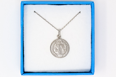 925 Sterling Silver St Benedict Necklace.