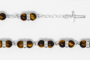 Tiger Eye Rosary Bracelet.