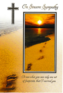 Footprints in The Sand Card Card.