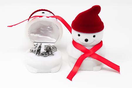 Snowman Christmas Nativity Set.