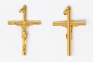 Solid Gold Crucifix Pendant.