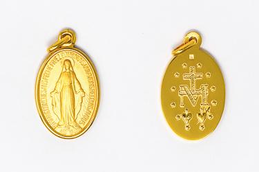 Miraculous Medal 9 Karat Gold.