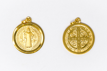 St Benedict Solid Gold Pendant.