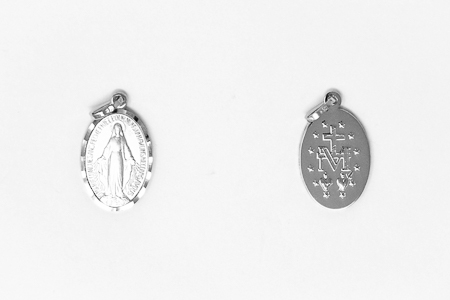 White Gold Miraculous Medal.