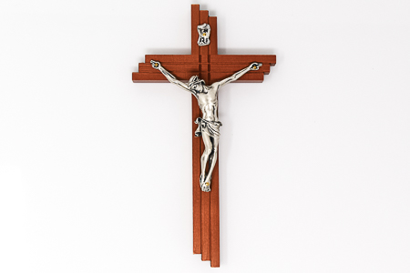 Solid Wooden Crucifix.