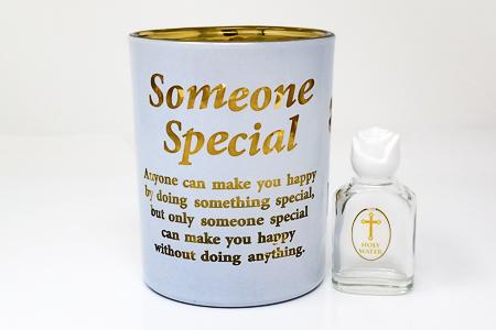 Someone Special Glass Votive Light Holder.