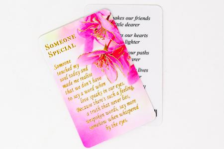 Someone Special Prayer Card.
