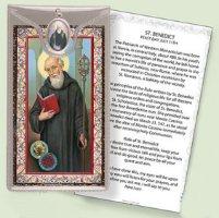 Prayer Card to St.Benedict.
