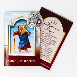 St.Christopher Relic & The Motorist's Prayer.