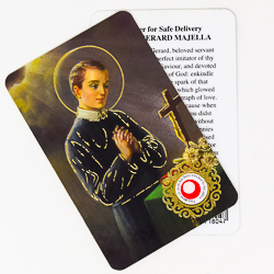 St.Gerard Prayer Card with Relic.