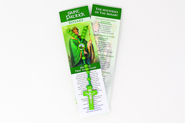 St.Patrick Green Wooden Rosary.