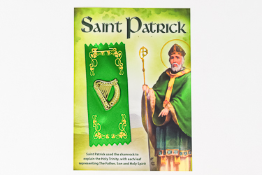 St.Patrick's Day Badge Harp Motif.