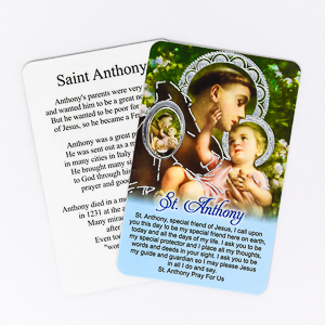 Saint Anthony Prayer Card.