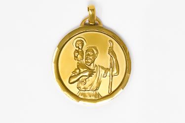 Gold  St. Christopher Medal