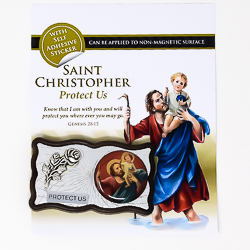 St. Christopher Car Plaque.