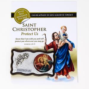 St. Christopher Car Plaque.