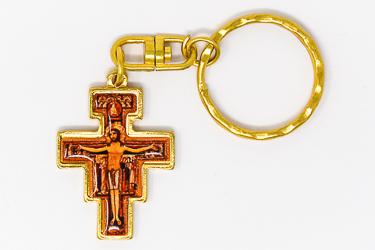St. Francis Gold Key Ring.