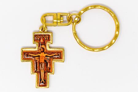 St. Francis Gold Key Ring.