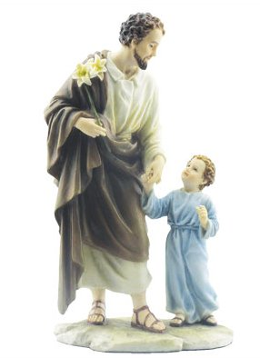 St Joseph Statue With Young Child
