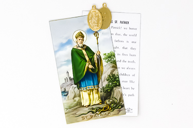 St. Patrick Medal Card.