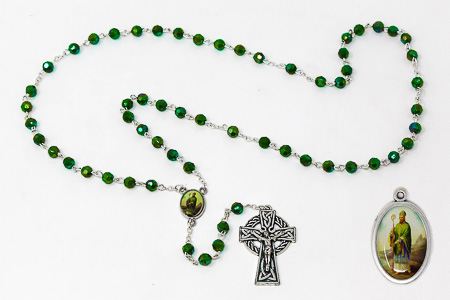 St Patrick Rosary set with Medal.