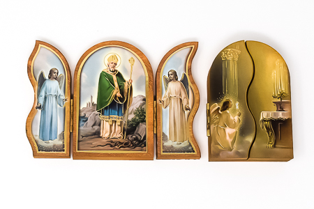 St. Patrick Triptych Wall Plaque.