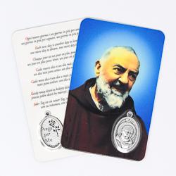 St. Pio Laminated Prayer Card.