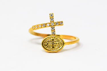 St Benedict Gold Ring.