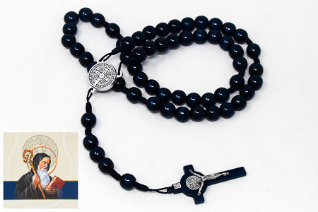 St Benedict Wooden Rosary.