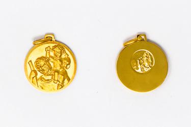Men's Gold St. Christopher Medal.