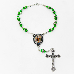 St Christopher Single Decade Car Rosary.