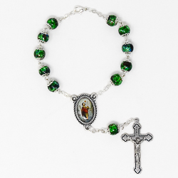 St Christopher Green Car Rosary.