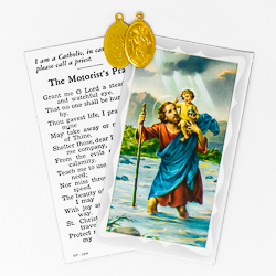 St Christopher Prayer Card.