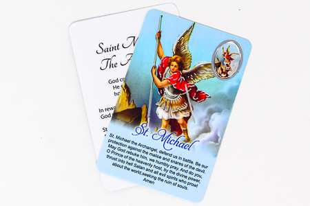 St Michael Prayer Card & Medal.