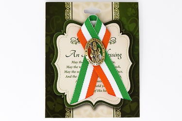 St.Patrick's Day Ribbon & Brooch