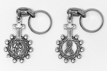 St Peregrine Rosary Key Chain.