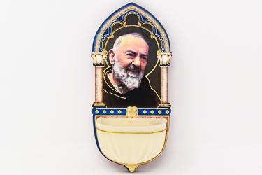 St Pio Luminous Holy Water Font.