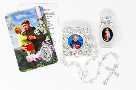 St Pio and Divine Mercy Holy Water Gift Set.