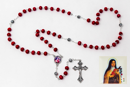 St Theresa Rosary Beads.