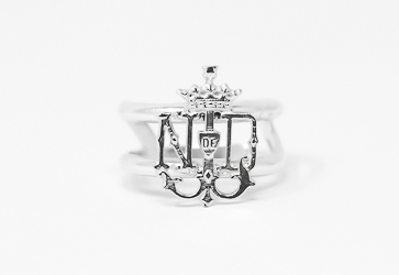 Lourdes Emblem Adjustable Ring.