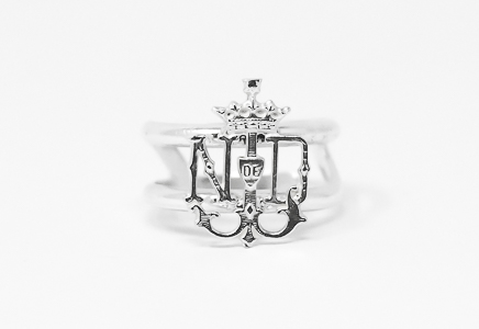 Lourdes Emblem Adjustable Ring.