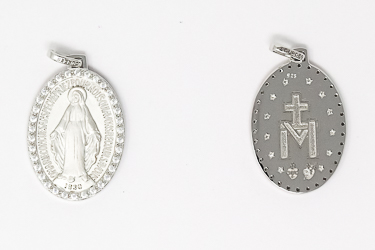 Miraculous Medal with Crystals.