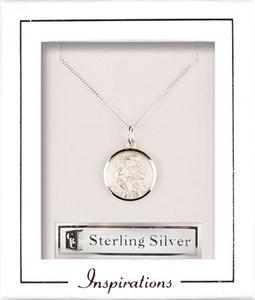 Sterling Silver Christopher Necklace.