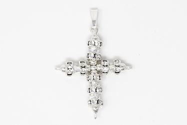 Swarovski Silver Cross Crystal Pendant.