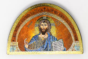 Icon Teaching Christ Wall Plaque