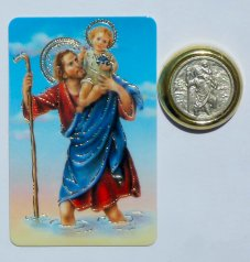 St. Christopher Car Magnet & Motorist's Prayer.