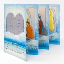 The Ten Commandments Laminated Leaflet.