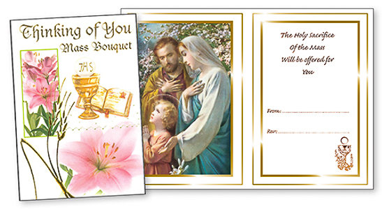 Holy Family Thinking of You Mass Card.